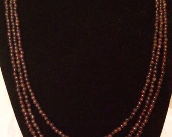 Garnet and freshwater peal necklace
