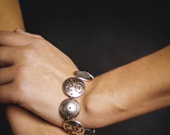 Native ethnic jewelry  jewelry wife Ethnic bracelet Boho bracelet Statement jewelry Handmade bracelet Silvered bracelet