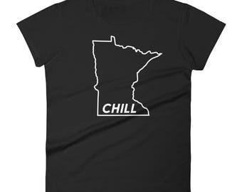 Minnesota Chill - Funny MN Cold Winter Novelty Gift Tees Women's Short Sleeve T-Shirt