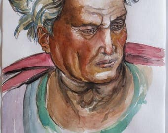 The Prophet Joel-watercolour No. 22-2003