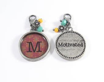 M Initial Charms, Initial Charms, Letter Charms, Initial Pendants,  Letter Pendants
