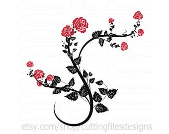 Rose Vine SVG Cutting File w/PNG - for Cricut Design Space and Silhouette Studio - Commercial use