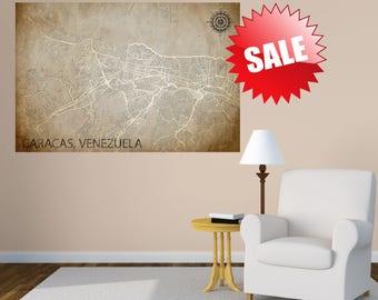 Caracas Map Caracas Art Caracas Print Caracas Venezuela Poster Caracas Wall Art Caracas Gift Map of Caracas Caracas Decor Art gift decor