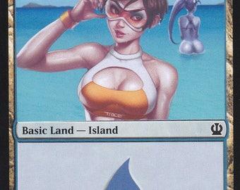 1x Altered Art Island : Custom Basic Land non-foil MTG card