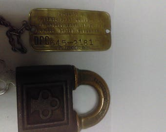 Antique Yale Lock from Defense Plant Corportion