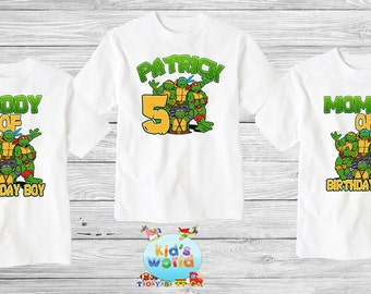 Teenage Mutant Ninja Turtles Birthday Shirt, TMNT Custom Shirt, Personalized NINJA TURTLES Shirt, tmnt family shirts, Birthday t-shirt d31