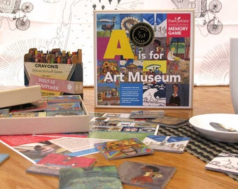 Memory Game: A Is For Art Museum Edition - A perfect intergenerational matching game for kids to adults with a social justice mission.