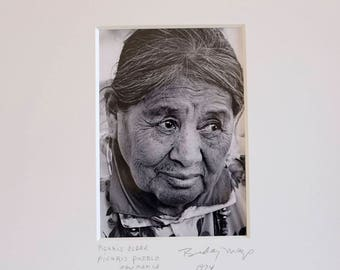 Fine Art Black and White Photograph of a Pueblo Woman Man At Picuris Indian Pueblo in New Mexico//Native American Photography//Photos Gift