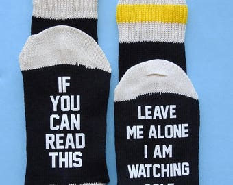 SALE! Golf Fan Player If You Can Read This Leave Me Alone I'm Watching Golf Socks - Great Gift! Birthday Father's Day Christmas