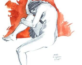 Woman sitting 4