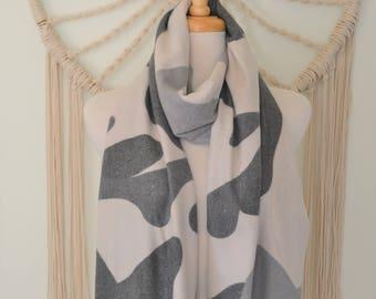 Camo Print Cashmere Scarf, Cashmere Shawl, Cashmere Wrap, Women's Fashion Scarves, Camouflage Cashmere Wrap, Shawl, Scarf