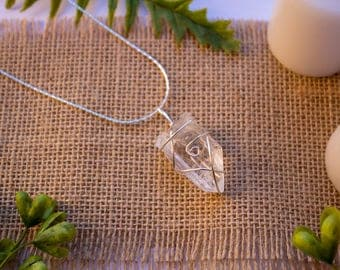 Clear Quartz | Silver Wire Wrapped Crystal Necklace