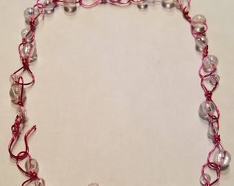Pink and Clear bracelet