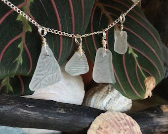 Patterned Scottish seaglass pendant