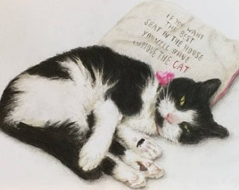 Custom pet portrait - A4 coloured pencil, Christmas gift, Personalised gift, Cat Lover, Dog Lover, Animal Lover