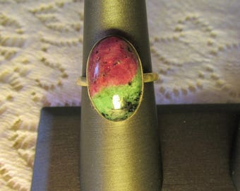 Ruby in Zoisite Ring Set in 925 sterling silver.