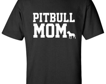 Pitbull Dog mom 100% Cotton Graphic Logo Tshirt