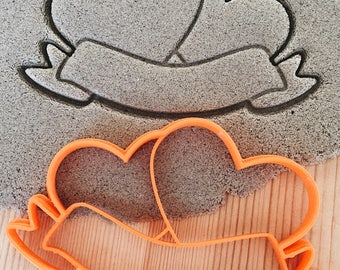 Hearts with bow Cookie Cutter