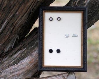 Earring Organizer, Frame Earring Display, Hanging Jewelry Organizer, Earring Holder Frame, Earring Display
