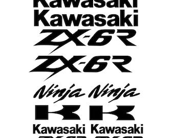 Kawasaki Ninja ZX6R ZX-6R Decal Sticker kit