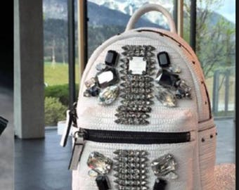 MCM CROCODILE Swarovski Crystal Backpack by Stark, Limited Edition, Highly collectable!