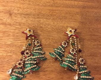 Lunch at the Ritz discontinued Christmas earrings - clip on