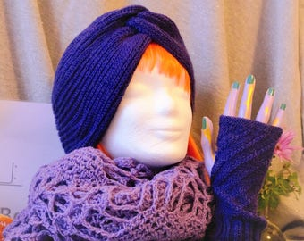 Handmade turban - like beanie