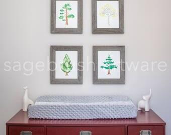 Digital Tree Nursery Art - Printable Baby Art Gift - Tree Prints - Children's Art - Girls Room Decor, Boys Room Wall Art - Watercolor Prints