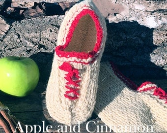 Wool slippers, Hand knitted wool slippers, Hand knit slippers, Knitted wool slippers, Natural wool slippers, Handmade, Valentines day gift