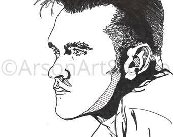 Morrissey Illustration Print
