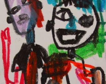 Mini size Original Modern Art Portrait Drawing