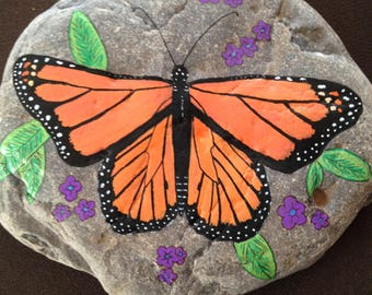 Magnificent Monarch Butterfly Garden Stepping Stone