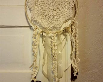 Neutral tone dreamcatcher with butterfly details