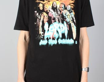 Lordi T-shirt - vintage heavy metal shirt - band shirt - metal band Tshirt T - Finnish band - Hard rock halleluja - Size L / large