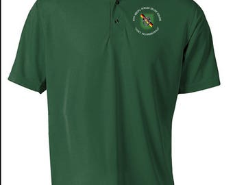 10th Special Forces Group (Europe)  Embroidered Moisture Wick Polo Shirt -3742