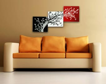 Tree of Life <3 Modular Picture for Home & Office Decoration. Canvas, Acrylic. Handmade- 100%