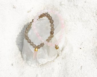 Smokey Quartz + Rose Quartz Combo