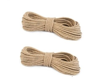 Natural 10 mm  Jute Rope 3 Strand Braided Twisted Cord Twine Sash
