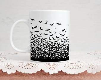 Bat Lover Mug - Coffee & Tea 11 Ounce Mug Perfect Present for Vampire Bat Animal Lover Goth Valentine's Day Gift