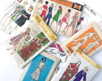 Set of Six • 1970s Assorted Dress Patterns