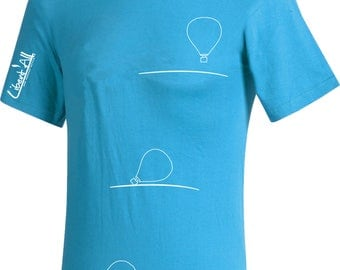 Hot air balloon - balloon t-shirt. Sport T-shirt