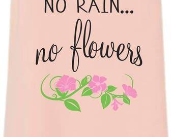 No Rain, No Flowers Flowy Side Slit Tank