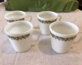 Vintage Pyrex Mug Set of 4