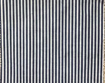 LARGE Reusable Beeswax Food Wrap Nautical Stripe Blue White 30cm x 30cm Zero Waste