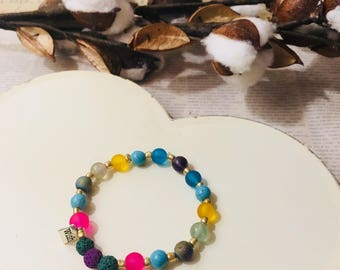 Rainbow Wish Magic Diffuser Bracelet