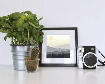Mountain Scape - Digital Artwork