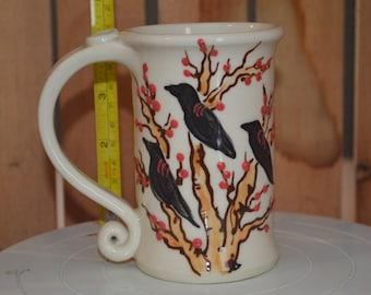Raven Tree Porcelain Coffee Mug