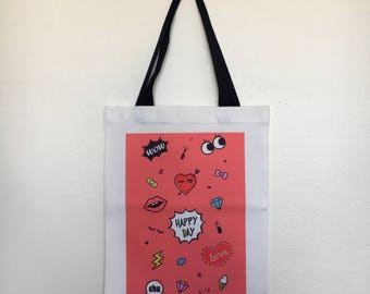 Tote Bag - Pink Happy Day