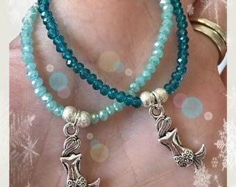 Childrens mermaid bracelets, Mermaid bracelets, Mermaid party, Mermaids, SET OF 2.