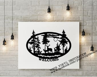 Wildlife Scene Welcome Decal